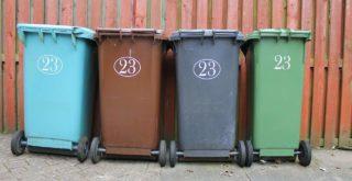 règles pour les poubelles sur le trottoir